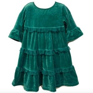 Hanna Andersson Girls Size 5 110 Green Twirl Dress